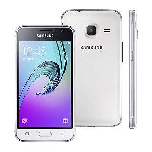 """Samsung Galaxy J1 Mini Duos Branco com Dual Chip, Tela 4.0"""", 3G, Câmera de 5MP, Android 5.1"""