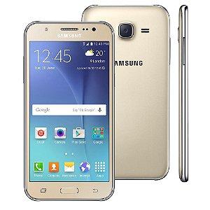 """Samsung Smartphone Galaxy J5 Duos Dourado com Dual chip, Tela 5.0"""", 4G, Câmera 13MP, Android 5.1 e Processador Quad Core de 1.2 Ghz"""