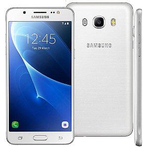 """Samsung Galaxy J5 Duos Metal Branco com 16GB, Dual chip, Tela 5.2"""", 4G, Câmera 13MP, Android 6.0 e Processador Quad Core de 1.2 Ghz"""
