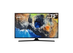 "Smart TV LED 75"" Samsung Série 6 4K HDR 75MU6100"