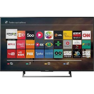 "Smart TV Led 49"" Sony KD-49X705E Ultra HD 4K Conversor Digital Integrado 3 HDMI 3 USB Wi-Fi"