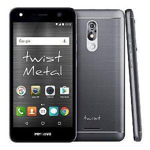 "Smartphone Positivo Twist S530 - Android 7.0 3G 5.2"" 16GB Câmera 8MP - Cinza"