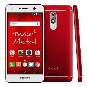 """Smartphone Positivo Twist S530 - Android 7.0 3G 5.2"""" 16GB Câmera 8MP - Vermelho"""