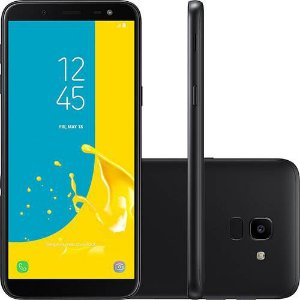 "Smartphone Samsung Galaxy J6 32GB Dual, 5.6"", Câmera 13MP,TV-Preto"