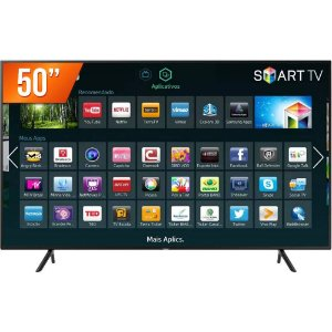 "Smart TV 50"" 4K LED Samsung Ultra HD, 3 Hdmi 2 USB - UN50NU7100"