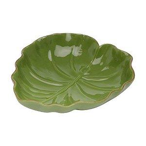 Folha Decorativa de Ceramica Banana Leaf Verde 23,5x22x6,5cm