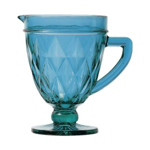 Jarra De Vidro Diamond Azul 1L