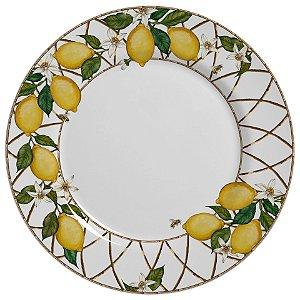 Conjunto de Pratos Raso com 06 Peças em Cerâmica Siciliano