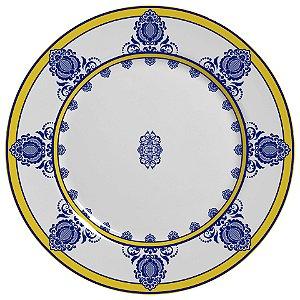 Conjunto de Pratos Rasos com 06 Peças em Cerâmica Palazo