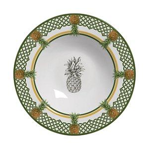 Conjunto de Pratos Fundos com 06 Peças em Cerâmica Pineapple