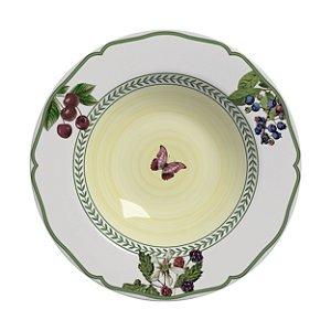 Conjunto de Pratos Fundos com 06 Peças em Cerâmica Fruits