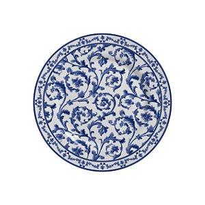 Conjunto de Pratos de Sobremesa com 06 Peças em Cerâmica Ramalhete