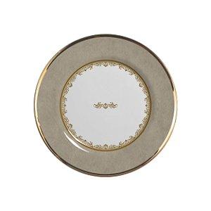 Conjunto de Pratos de Sobremesa com 06 Peças em Cerâmica Montecarlo Fendi