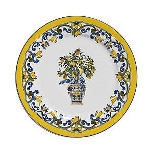 Conjunto de Pratos de Sobremesa com 06 Peças em Cerâmica Limone