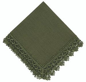 Jogo Americano Renda Guipir Verde 35cm x 50cm 100% Poliester un. - Mod 4535