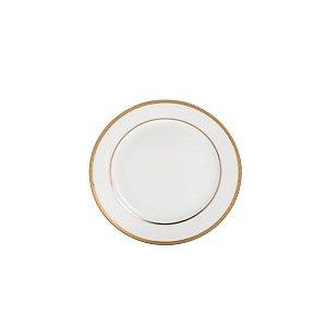 Conjunto de Pratos De Sobremesa com 6 Peças em Porcelana Gold Alto Relevo