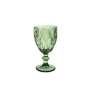 Conj. 6 Taças P/ Água De Vidro Diamond Verde 325ml