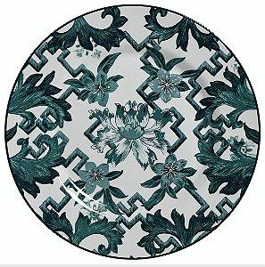 Conjunto de Pratos Rasos com 06 Peças em Cerâmica Chines Verde