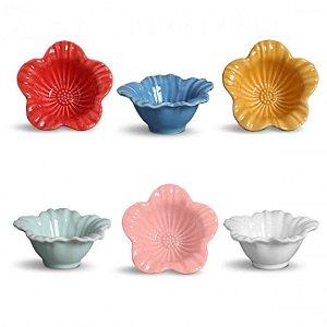 Conjunto de Petisqueiras de Ceramica Campestre - Varias cores - 172 ml