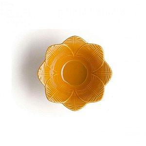 Bowl Leaves Curry Em Ceramica - Conjunto De 6 Peças - 372ml