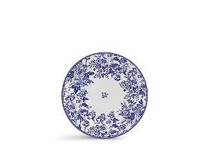 Conjunto de Pratos de Sobremesa com 06 Peças em Cerâmica Blue Garden