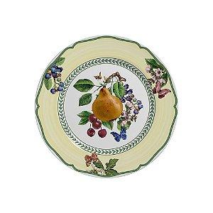 Conjunto de Pratos de Sobremesa com 06 Peças em Cerâmica Fruits