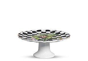 Porta Torta Floral Chess