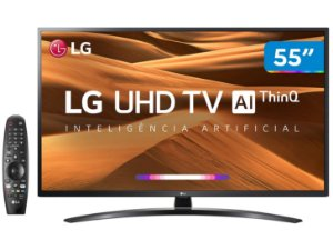 "Smart TV 55"" LED LG 4K  UHD, Wi-Fi, HDR, Inteligência Artificial Controle Smart Magic - 55UM7470"