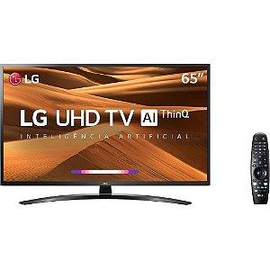 """Smart TV 65"""" LED LG UHD 4K ThinQ AI,Processador Quad Core, HDMI, USB - 65UM7470"""