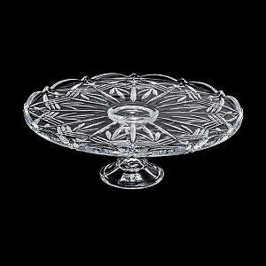 Prato Para Bolo de Cristal Ecológico com Pé - Taurus - Bohemia - 31cm