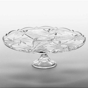 Prato Para Bolo de Cristal Ecológico com Pé - Pinwheel - Bohemia - 31cm