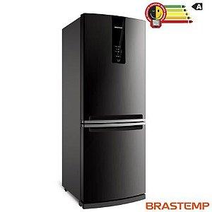 Refrigerador de 02 Portas Brastemp Frost Free com 443 Litros com Freezer Invertido Cor Inox - BRE57AK -110V