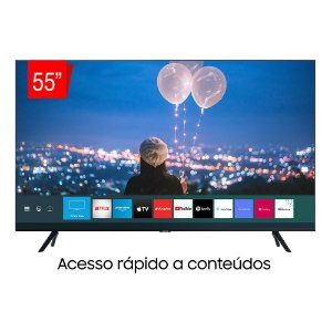"Smart TV 55"" Samsung Crystal UHD 4K, Bluetooth, HDR Premium, Borda Ultrafina, Cabos Escondidos - 55TU8000"
