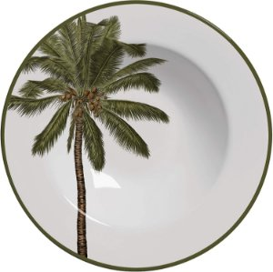 Conjunto de Pratos Fundos com 06 Peças em Cerâmica Malibu