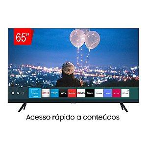 "Smart TV Samsung 65"" 4K Crystal UHD, Bluetooth, HDR Premium, Borda Infinita, Múltiplos Assistentes Pessoais, Cabos Escondidos - 65TU8000"