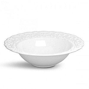 Tigela Passion Branca Em Ceramica - Grande - Ø 36 cm 2710 ml