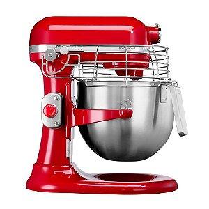 Batedeira KitchenAid Stand Mixer Profissional com 10 Velocidades e 03 Batedores - Empire Red - KEF97AV - 220V