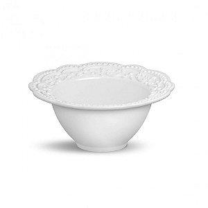 Bowl Passion Branco Em Ceramica - Conjunto de 6 Peças - 414ml