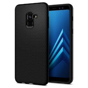 CAPA PARA GALAXY A8 LIQUID AIR SPIGEN MATTE BLACK