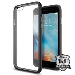 CAPA PARA IPHONE 6/6S SPIGEN ULTRA HYBRID BLACK