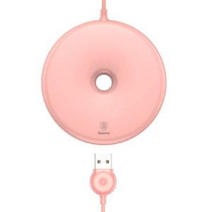 CARREGADOR WIRELESS BASEUS DONUT ROSA