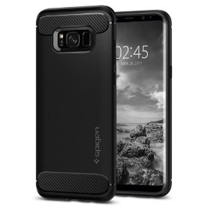 CAPA PARA GALAXY S8 PLUS RUGGED ARMOR SPIGEN BLACK