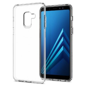 CAPA PARA GALAXY A8 LIQUID CRYSTAL SPIGEN CRYSTAL CLEAR