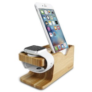 Dock Madeira Suporte Mesa Base Apple Watch Iphone 7 8 Plus X