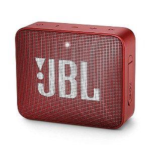 Caixa De Som Portátil Jbl Box Go 2 - 3w Rms - Vermelho, Bluetooth, À Prova D'água