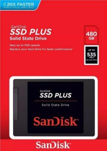 Hd Ssd Sandisk Plus 480gb 20x Mais Rapido 2,5 535mbs Lacrado