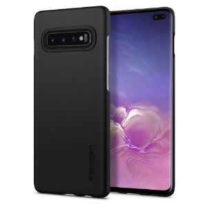 Capa Galaxy S10+ 100% Original Spigen Case Thin Fit Black