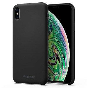Capa Case Iphone X Xs Original Spigen Silicone Aveludada