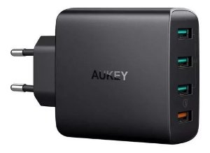 Carregador Turbo Aukey C/ 4 Portas Charge 3.0 Parede