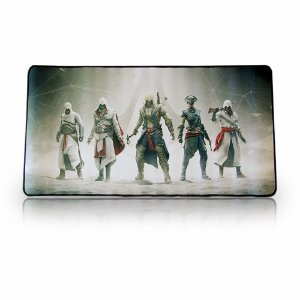 Mouse Pad Gamer ASSASSINS Extra Grande 70x35 Cm Mouse Teclado Pc